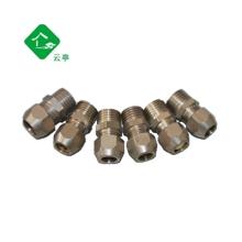 铜卡套接头 直通中间接头 铜管/油管接头 4,6,8,10,12MM铜管接头