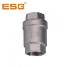 供应 ESG 青岛精锐 不锈钢工业用二片弹簧式立式止回阀