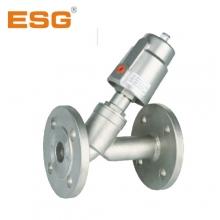 供应批发ESG牌青岛精锐不锈钢气控法兰式角座阀