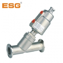 ESG 快装式 气控角座阀 不锈钢材质阀门 带执行器