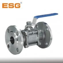 ESG法兰球阀 供应批发青岛精锐三片式法兰不锈钢球阀