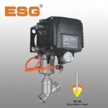 供应批发ESG气控调节角座阀 青岛精锐不锈钢气动阀
